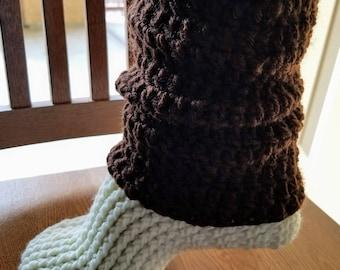 Leg Warmer Slippers Crochet Pattern