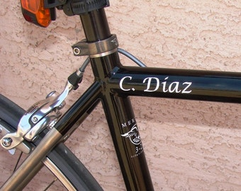 Bike Frame Name Decal Set  - Custom