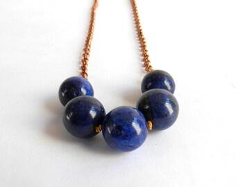 Lapis Lazuli - Swing necklace