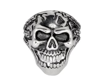 Gents Demon In Chains Ring Stainless Steel Motorcycle Biker Jewelry