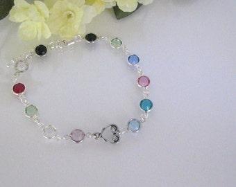 Mothers Birthstone Bracelet-Custom Birthstone Bracelet-Personalized Birthstone Jewelry-Family Birthstone Bracelet-Grandmother Bracelet