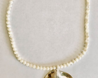 Large Shell and Bead Necklace