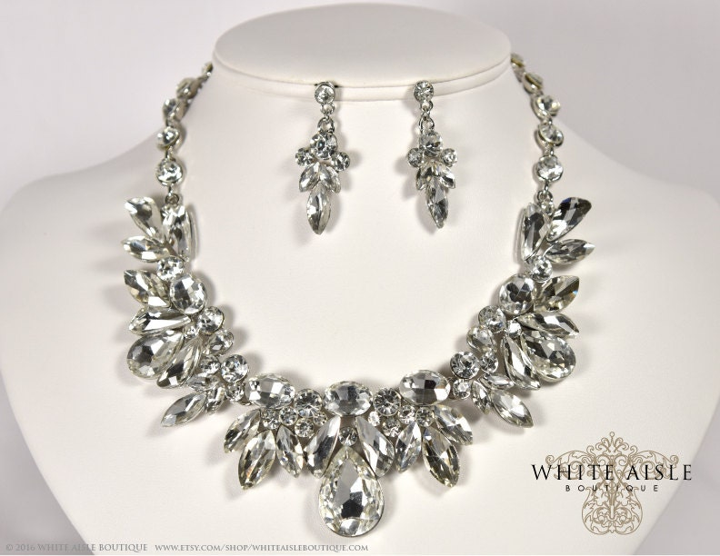 Bridal Jewelry Set, Wedding Jewelry Set, Crystal Statement Necklace ...