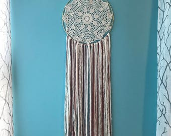 Rustic chic dreamcatcher, boho dreamcatcher, whimsical dreamcatcher, natural wall hanging, boho wallhanging, wall decor