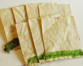 Coffee-dyed paper pockets (7 pieces)