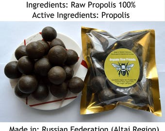 Organic Siberian Raw Propolis 1.76 oz(50 grams)-35.27 oz (1 klograms). Summer 2018. From Altai Region of Russian Federation