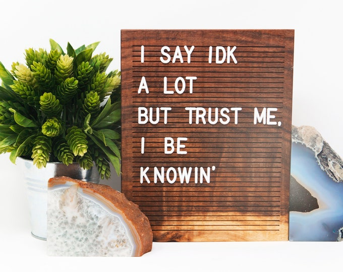 Featured listing image: Wooden Letter Board 8x10 -BLACK WALNUT - Letterboard, Message Board, Felt Board, Modern Farmhouse, Modern Cabin, Natural, Organic