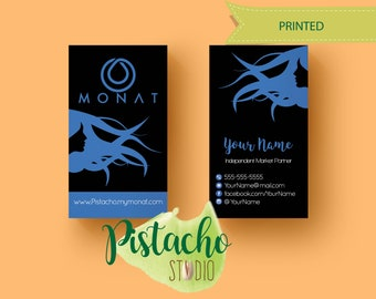 Monat Business card- Vertical Monat business card- Printed card- Hair care- Independent  Market  Partner