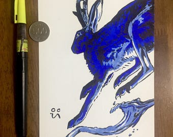 Water Jackalope - Original Drawing