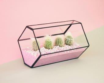 Indoor Pflanzer einschließlich Terrarium Kit - geometrische Terrarium - Terrarium Container - moderne Pflanzer - saftiges Pflanzgefäß-Set - Glasmalerei