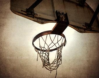 Vintage Basketball Hoop  Photo Print ,Decorating Ideas, Wall Decor, Wall Art, MVP, Kids Room, Nursery Ideas, Gift Ideas,