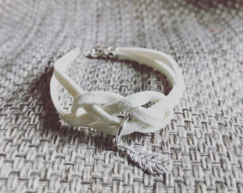 Angel wing frienship bracelet