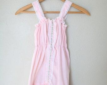 vintage pink & white lace sun dress