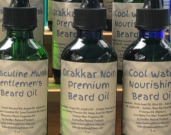 BEARD OIL | 2 oz. | Drakkar Noir Premium | Natural Moisturizing and Soothing | Healthier, Fuller and more Manageable Beards