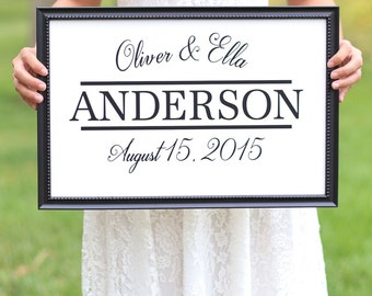 Gold 5x7 Frames Signs Wedding Bridal Shower Engagement