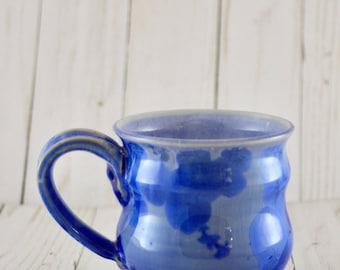 Ceramic Mug, Cobalt Crystalline, 10 oz