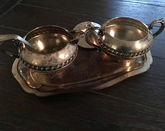 1940s Silver Coated Serving Set