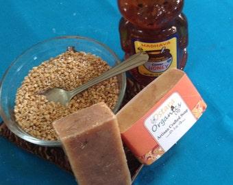 Oatmeal Milk Honey Soap, Oatmeal Soap, Oatmeal Soap Bar, Goat Milk Soap, All Natural Soap, Artisan Soap, Handmade Soap, Milk and Honey Soap