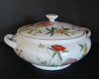 Vintage DIORAFLOR LIMOGES RAYNAUD Round Covered Vegetable Dish