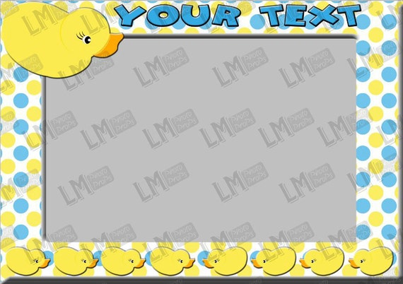 Rubber Duck Frame Customised Photo Prop Duck Theme Party
