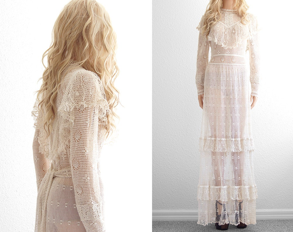 Crochet Lace Wedding Dress Crochet Dress Lace Dress Victorian