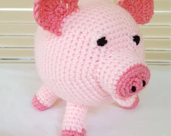 Crochet Pig Stuffed Animal / Pink Pigs/ Crochet Doll / Amigurumi Toy/  Farm Animals/Handmade Toys/ Gift For Kids