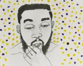 Be Here Portrait Fine Art Print
