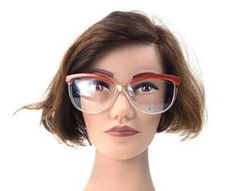 vintage. glasses. retro. cat eye glasses. cat eye frames. vintage glasses. eye glasses. hipster. boho. bohemian. women. oversized. red