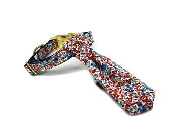 Luxury Dog or Cat Necktie - The WREN (Liberty of London floral print)