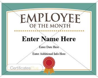 employee certificate of appreciation