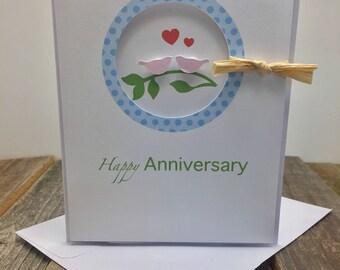 Happy Anniversary Card, Bird Anniversary Card, Love Birds Anniversary Card, Happy Anniversary, Anniversary Card, Birds Card