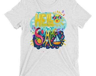 Hello Summer Short Sleeve T-Shirt
