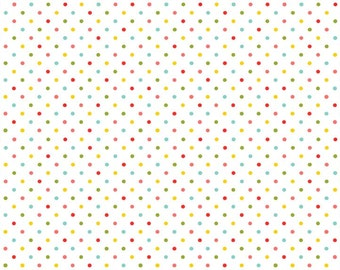 COTTON FABRIC Rainbow Dot - 'Juicy' Makower UK 100% premium cotton