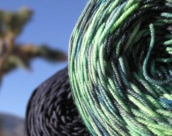 Sport Weight Yarn - Custom Dyed Shawl Yarn - Imperial Jade