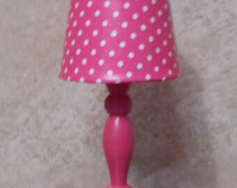 Barbie Purple or Pink Polka Dot Lamp