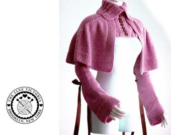Mantelet Knitting PATTERN, R. E. Linwelin, PDF DOWNLOAD