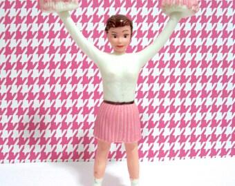 Pink Cheerleader Cake Topper
