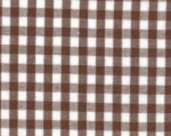 "HALF YARD 1/8"" CHOCOLATE Fabric Finders Gingham"
