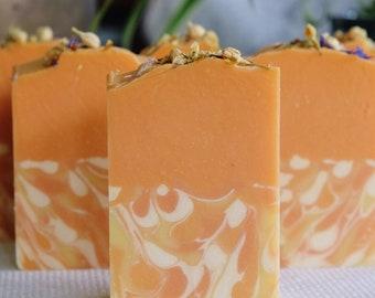 Kumquat Vegan Coconut Milk Soap with Kaolin Clay