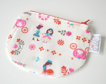 Small clutch wallet Change purse Small Clasp Pouch Bridesmaid gift Gifts for her Gifts for women Gifts for coworker Cinderella Kawaii