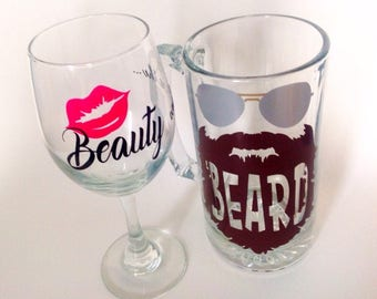 Beauty and the Beard glasses for Couple
