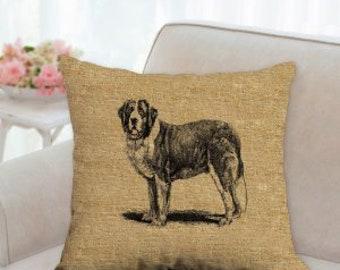St. Bernard Dog Decorative Pillow