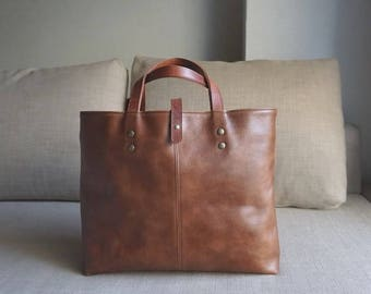 Simple tote [Brown]