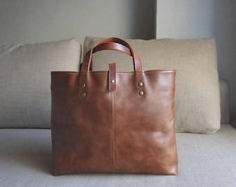 Simple tote [Brown]