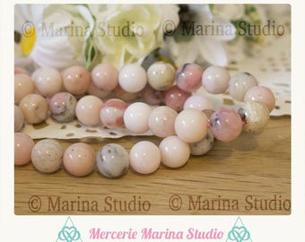 4 beads 8mm natural pink jade * reiki * chakras
