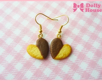 Choco Heart Cookies Earrings by Dolly House