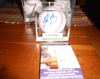 AARON RODGERS SIGNED green bay packers baseball/jsa