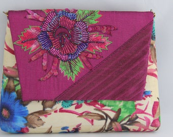 Floral Clutch with Beaded Embriodery