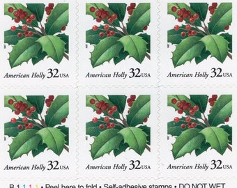 American Holly (20) - Mint-Unused-  Scott 3177a - 1977 - Full Booklet