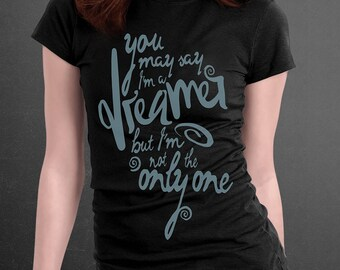 Imagine lyrics tee shirt